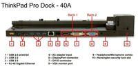 Lenovo ThinkPad Pro Dock Type 40A1 T440 T450 T460 T470 T550 T560 T570 X240 X250