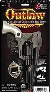 Outlaw Pistol Cowboy Toy Cap Gun Die-Cast Pearl Colt 45 Revolver Western Legends