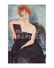 "MODIGLIANI AMEDEO - RED-HEADED WOMAN - ART PRINT POSTER 14"" x 11"" (1782)"