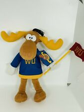 "Toy Network Bullwinkle Plush With Flag 12"" W/Tag"
