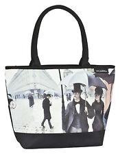 Tasche Umhängen grau  Bag Kunst Damen Gustave Caillebotte: Paris im Regen 4157