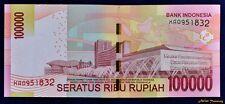 2014 INDONESIA REPLACEMENT 'X' 100000 RUPIAH BANKNOTE CRISP UNCIRCULATE UNC
