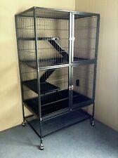 New/Unused Large Ferret/Small Animal Black Metal Cage And Supplies Bundle