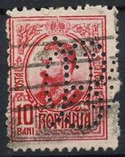 Romania 1908-1919, 10b Perfin Used #D5967