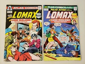 POLICE ACTION (LOT # 1 & 2)- 1975 BONDAGE COVER - 1st APP LOMAX NYPD - Atlas