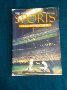 Sports Illustrated First Issue August 16, 1954 Rare With Trading Cards Attached.