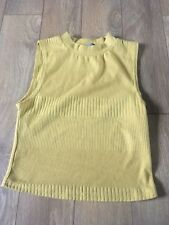New Look Mustard yellow High Neck Crop Top Size 8