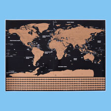 Deluxe Scratch Map Black Map Scratch Off Map Travel Scratch World Map 1Pc