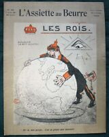 "L'Assiette au Beurre #249  ""Les Rois"" 1906 French World Political Satire Art"