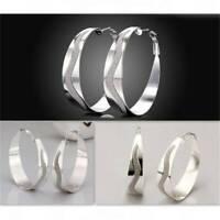 Geometric Circle Hoop Earrings Big Round Dangle Ear Studs Women Elegant JewelyLL