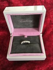 18ct WHITE GOLD 5 STONE 2.00ct DIAMOND ENGAGEMENT ETERNITY RING SIZE M
