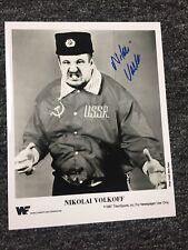 nikolai volkoff signed 8x10 Auto