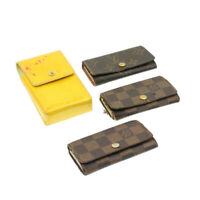 LOUIS VUITTON Monogram Damier Ebene Key Phone Case 4Set Yellow LV Auth yk228