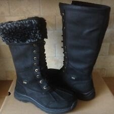 UGG Adirondack Tall III Leopard Black Fur/ Waterproof Snow Boots Size 9.5 Womens