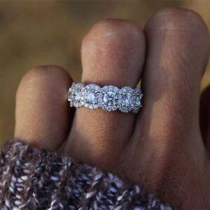 Fashion Silver Crystal Luxury Ring Zircon Jewellery
