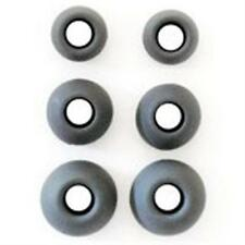 KIT 6 gommini in silicone nero per auricolari in-ear (3 taglie: 2xS,2xM,2xL)
