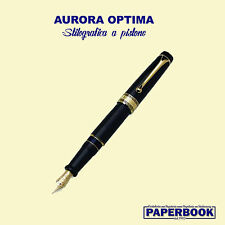 .Aurora Optima Fountain Pen/ Stilografica nera