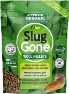 Vitax Organic Highly Effective Slug Gone Slug & Snail Wool Pellets 3.5L