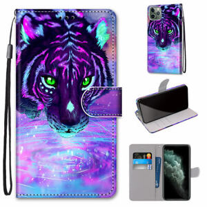 Tiger Drinking Water Cool New Hot Flip Wallet Stand Case Cover For Various Phone