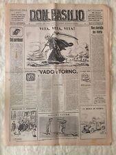 Don Basilio n.3 - 15 gennaio 1950 settimanale satirico d'opposizione