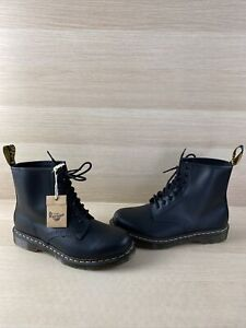 Dr. Martens 1460 Black Smooth Leather Lace Up Ankle Boots Men's 10  Women's 11