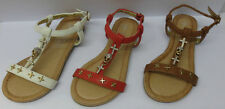 Spot On Sandals for Girls Buckle