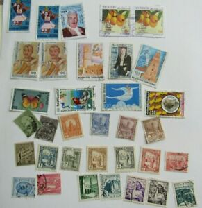 tunisia stamps - from various periods - mainly used from old albums