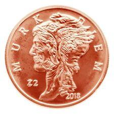 "Avdp 1 oz Zombucksâ""¢ Murk Diem .999 pure Copper Round"