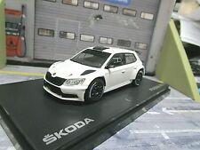 SKODA Fabia R5 Rallye III 3 white weiss Gravel Schotter Works Test  Abrex 1:43