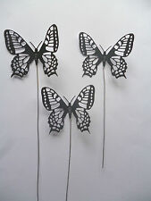 2,3,4,5 Die-cut Butterflys On metal stems for cake decoration - bendable to suit