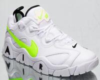 Nike Air Barrage Low Men's White Volt Black Athletic Lifestyle Sneakers Shoes