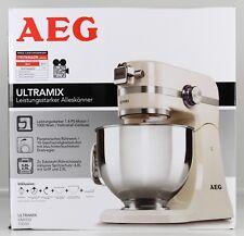 AEG UltraMix KM4100 Küchenmaschine 1000 Watt LED-Licht Glossy White L3-AEG