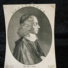 Cornelius Visscher Portrait Etching of Constanter ,Numbered ,RARE