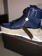 Gucci Men's Blue Nylon GG Guccissima High Top Sneakers Trainers