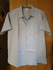 Vintage 1950s Penn Garment Mens Postal Worker Short Sleeve Shirt Xl Sanforized