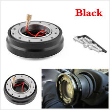 Universal Black Racing Car Quick Release Adapter Steering Wheel Hub Boss Kits