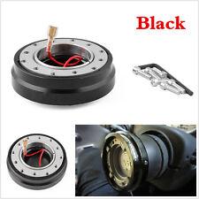 Universal Negro Coche de Carreras de adaptador de liberación rápida volante HUB BOSS Kits