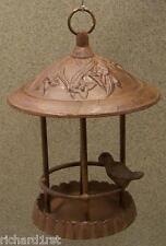 Bird Feeder Gazebo Weathered cast iron Antique Rust NEW