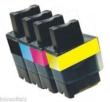 4 x Cartucce Di Inchiostro LC900 Per Brother Fax 2240,Fax 2440C