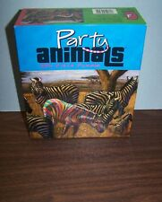 "New Ceaco 2004 Julia Lucich Party Animals Poopers ""Zebra"" 550 Pieces Art Puzzle"