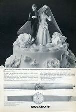 1965 Kingmatic Movado Sub-Sea Mens Watch Womens Diamond Cover Bracelet PRINT AD
