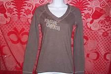 Hollister California Blouse Top Long Sleeve Casual V-Neck T-Shirt Womens Medium