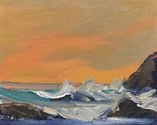 HAZY CLOUDS Original Expression Seascape Oil Painting 8x10 032819 KEN