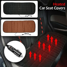 12V Car Rear Seat Heated Cover Warmer Protector Pad Cushion Mat(Color:Coffee )