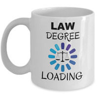 Law degree loading - Funny law school student mug - Lawyer to be motivation gift