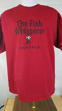 2XL Seattle The Fish Whisperer Tee T-Shirt Red Used