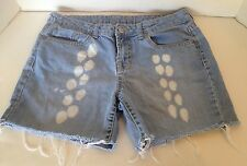 Bitten by Sarah Jessica Parker Size 8 Regular Faded Blue Denim Distressed Shorts