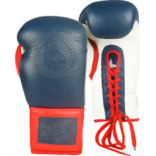 Superare Americana Lace Up Training Boxing Gloves - Red/White/Blue