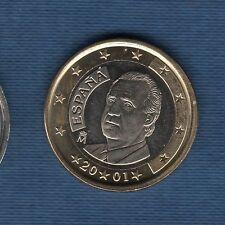 Espagne - 2001 - 1 euro - Pièce neuve de rouleau -