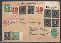 DF8161/ GERMANY LOCAL POST GARZ – UNLISTED LOCAL ON REGISTERED COVER